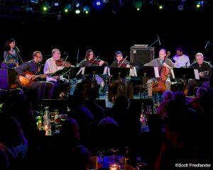 Joel Harrison String Choir (Joel Harrison, Liberty Ellman, Christian Howes, Zack Brock, Tanya Kalmanovich, and Hank Roberts) with Camila Meza and Damion Reid: 03-10-17 (le) Poisson Rouge  (2017 Alternative Guitar Summit)