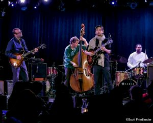 Liberty Ellman and Miles Okazaki with Stephan Crump and Damion Reid: 03-10-17 (le) Poisson Rouge  (2017 Alternative Guitar Summit)
