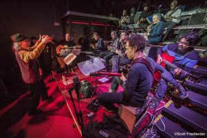 Adam Rudolph and Go: Organic Guitar Orchestra (Marco Capelli, Damon Banks, Kenny Wessel, Joel Harrison, Miles Okazaki, Rez Abbasi, David Gilmore, Jerome Harris, Nels Cline, and John Schott): 03-11-17 Nublu 151 (2017 Alternative Guitar Summit)