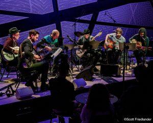 The Resophonic Guitar Orchestra (Joel Harrison, Elliott Sharp, Brandon Ross, James Moore, Will Bernard, and Pete Matthiessen): 03-15-17 National Sawdust (2017 Alternative Guitar Summit)